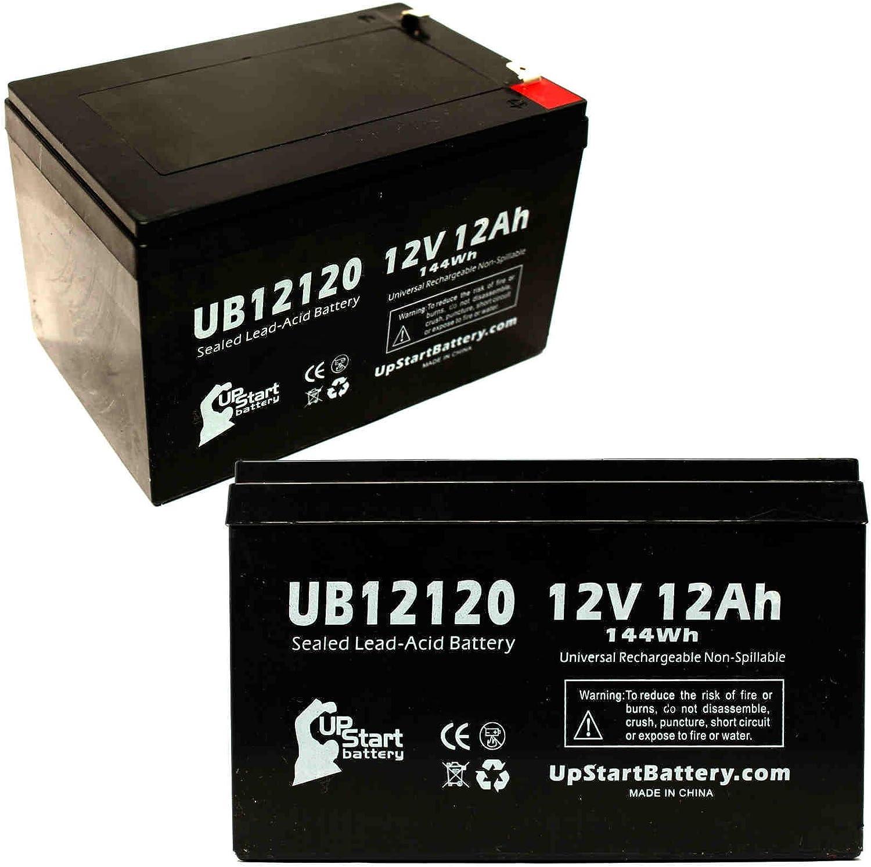 Sunrise Medical Guardian Trek 3 - Batería de repuesto para UB12120 (12 V, 12 Ah, 12000 mAh, terminal F1, AGM, SLA) (incluye 4 adaptadores de terminal F1 a F2)