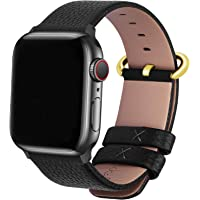 Fullmosa Compatible Apple Watch Band 38mm 40mm 42mm 44mm Leather Compatible iWatch Band/Strap Compatible Apple Watch…
