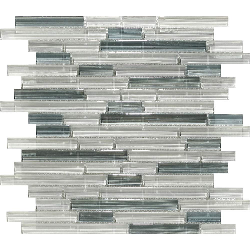 Chery Glass Style Mosaic Wall Tile for The Bathroom and Kitchen Wall Tiles Backsplashes Light Blue