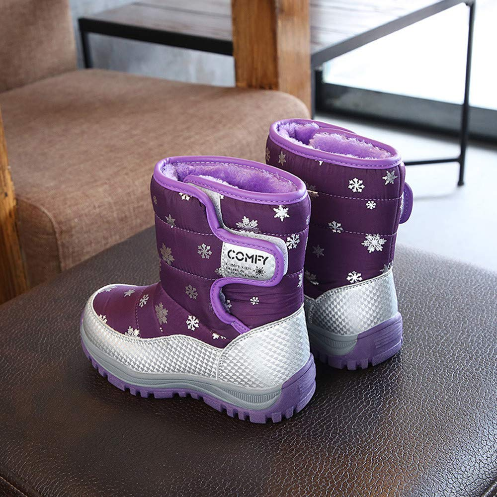 Baby Boys Girls Snow Boots Premium Warm Solf Rubber Sole Every Step Walking Winter Student Shoes