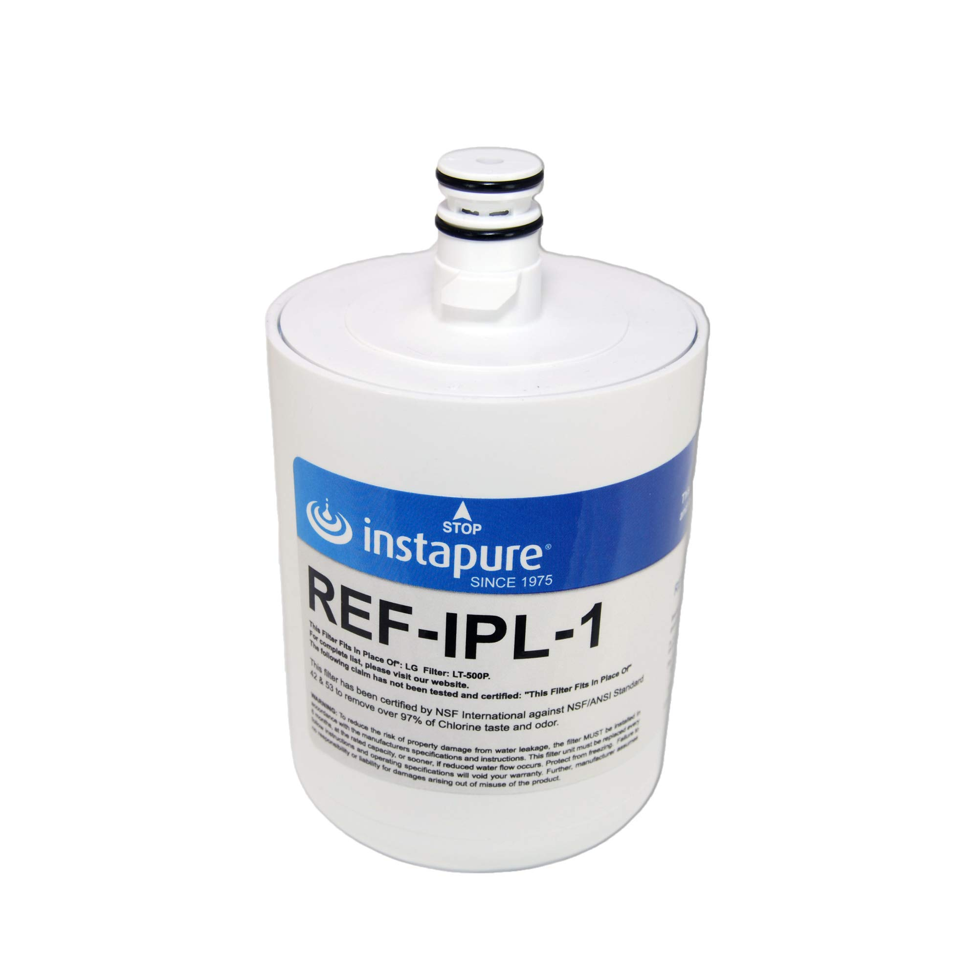 Instapure REF-IPL-1 ULTRA Refrigerator Filter, MADE IN USA, Compatible with LG LT-500P, LG 5231JA20, Tested & Certified by NSF to ANSI/NSF 42 & 53