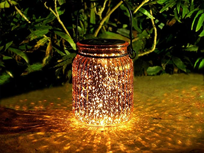 Amazon.com: voona Solar de vidrio luces colgantes ...