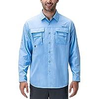 NAVISKIN Camisa Casual UV UPF 50+ de Manga Larga para Hombre Camiseta Deporte Térmica Pesca Acampada Campismo Senderismo Marcha Ligero Secado Rápido