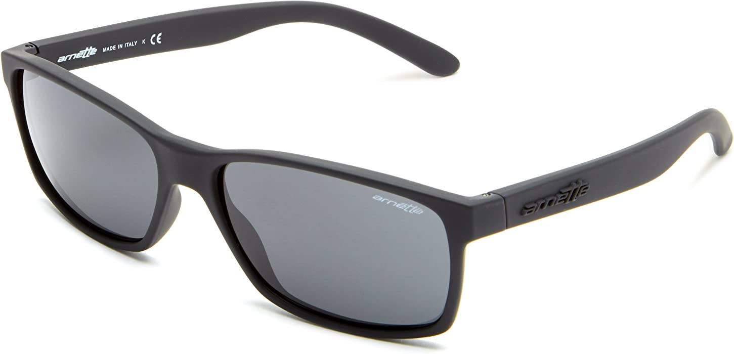02fbd80f24 Amazon.com  Arnette Men s Slickster Fuzzy Black w Grey Sunglasses ...