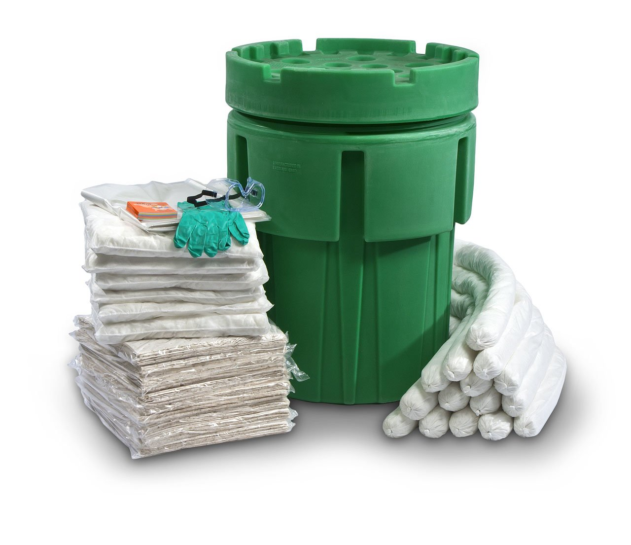 ESP SK-O65 135 Piece 65 Gallons Oil Only Absorbent Ecofriendly Spill Kit, 42 Gallons Absorbency, White