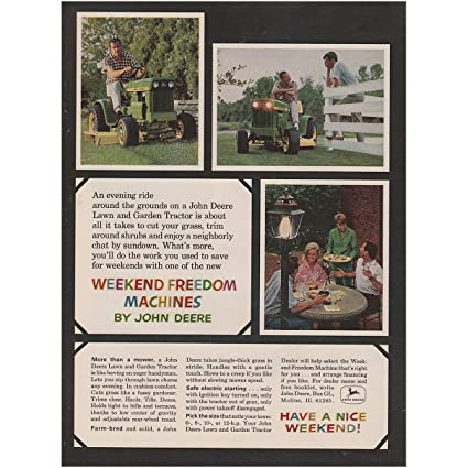 Weekend Freedom Machines >> Amazon Com Relicpaper 1968 John Deere Weekend Freedom