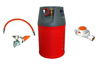 komposit (más ligero alugas) Gas Botella 24,5l (11kg) + Baja