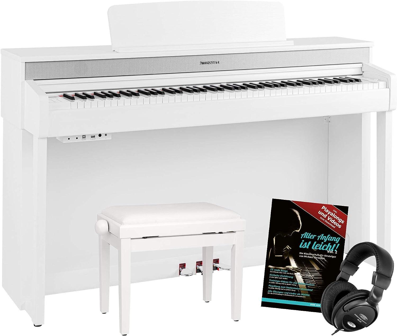 Steinmayer DP-361 WM Set de piano digital color blanco mate ...
