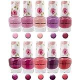 B.C. Beauty Concepts Nail Polish Set - 10 Mini Nail Polish Colors, Polish Kit for Fingernails and Toenails, Quick Dry…