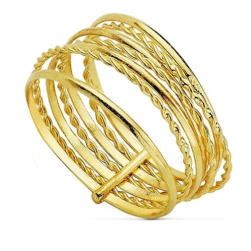 Sortija mujer oro amarillo anillo semanario minimal aros joyería jpg  500x500 Italiano anillos de semanario 8f4230ba7c9