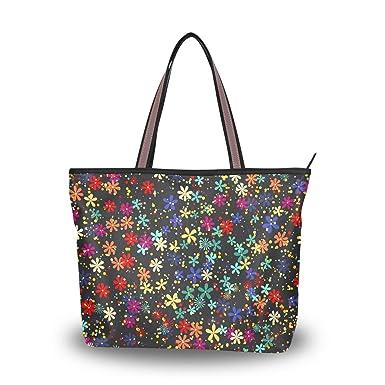 Amazon.com: Star Flowers Bolsas de hombro con asa grande ...