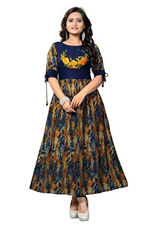Globon impex Indian Designer Dress Womens Cotton Kurta Party wear ...