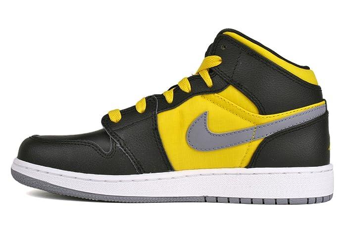 new product 431e3 1bd6a Nike AIR JORDAN 1 PHAT (GS) Baskets Enfant 364771-050-36.5 - 4.5 Jaune   Amazon.co.uk  Shoes   Bags