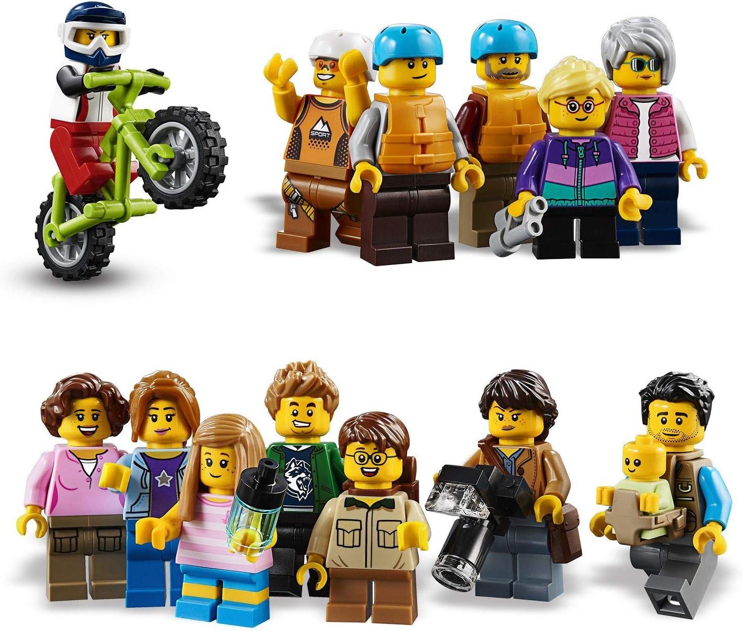 LEGO 60202 City Town Pack de Minifiguras: Aventuras al Aire Libre (Descontinuado por Fabricante)