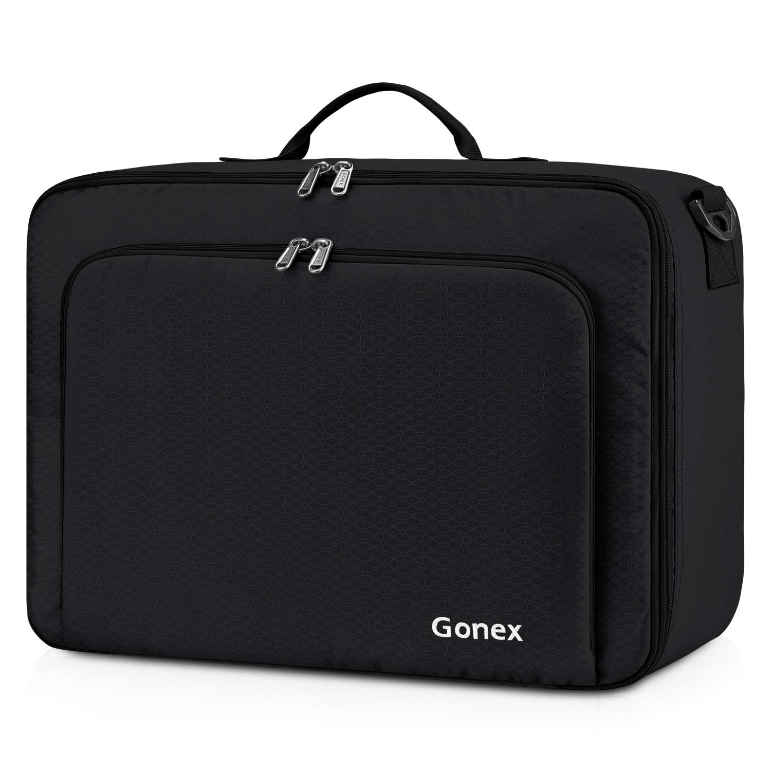 Gonex Travel Duffel Bag, Portable Carry on Luggage Personal Item Bag for Airlines, Water& Tear-Resistant 20L Black by Gonex