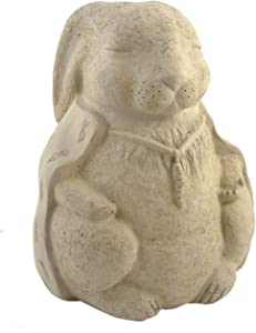 Modern Artisans Meditating Rabbit - Cast Stone Garden Sculpture, Large Size, American Made