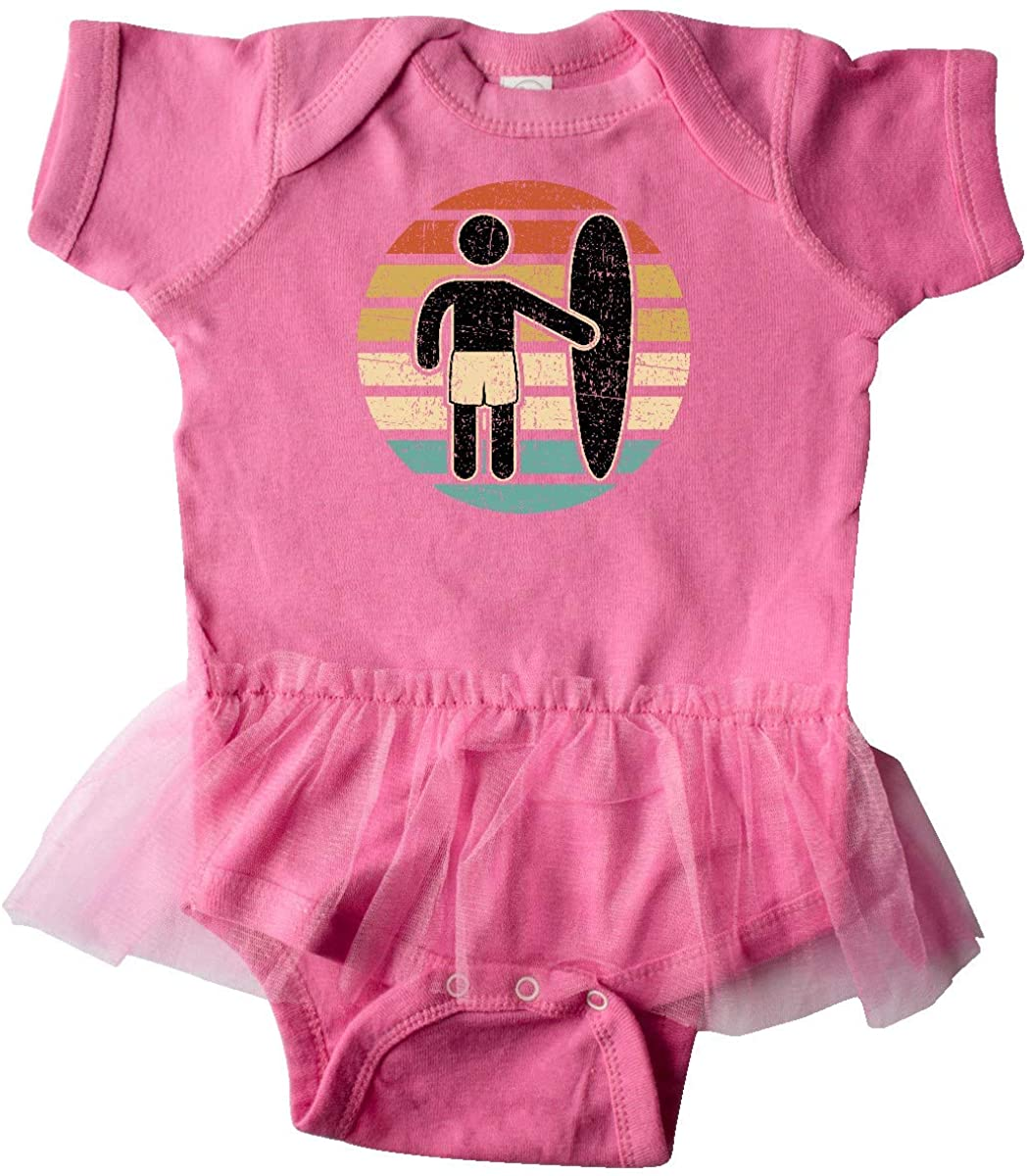 inktastic Surfing Gift for Surfer Infant Tutu Bodysuit