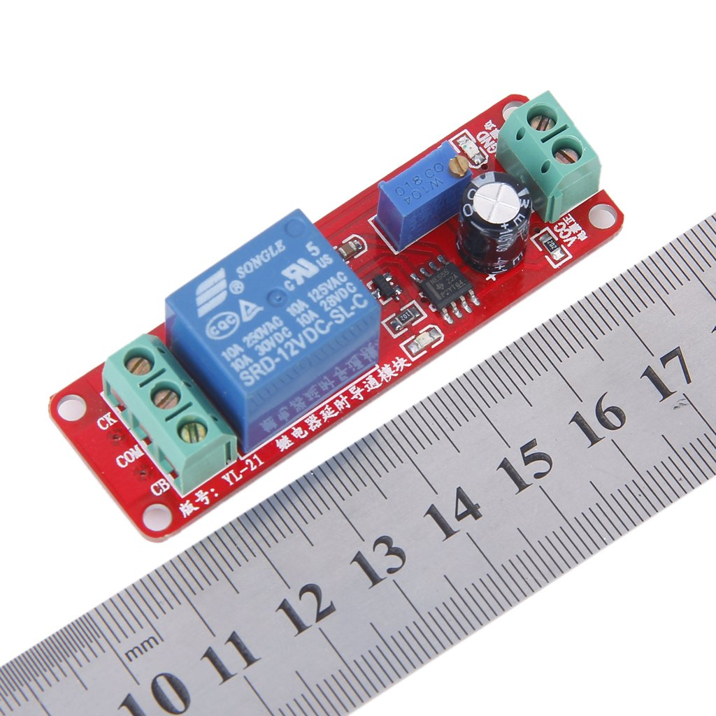 Generic 12v Delay Timer Switch Adjustable Module 0 To 10 With On Off Circuit Using Ne 555 Project Second Ne555 Computers Accessories
