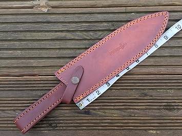 Funda de piel para cuchillo de caza o Bowie, hecha a mano ...