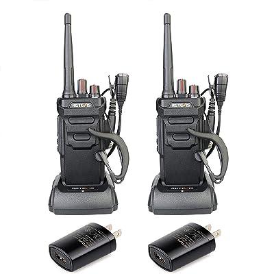 Retevis RT48 Walkie Talkies Rechargeable IP67 Waterproof, Alarm VOX Scan, Long Range Two-Way Radios Skiing Hiking (1 Pair): GPS & Navigation