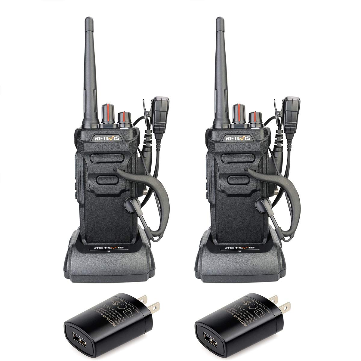 Retevis RT48 Walkie Talkie IP67 Waterproof VOX Monitor Security Two-way Radios Emergency Alarm Hurricane Radio 2 Pack