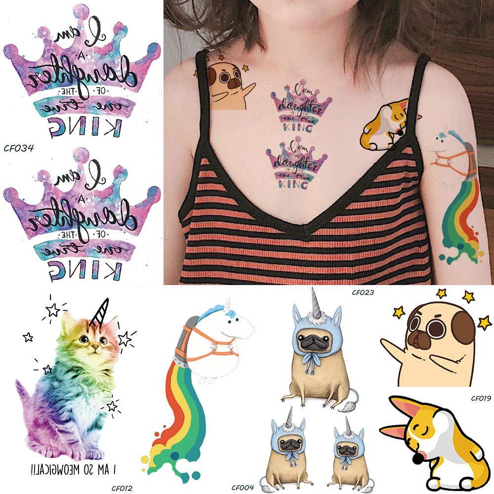 Tatuajes Temporales Niños Superheroes Corona De Dibujos Animados ...