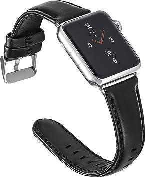 Aladrs Compatible con Correa Apple Watch 42mm 44mm, Muñequera de Repuesto con iWatch Series 5/4/3/2/1 Correa de Cuero Vintage para Apple Watch: Amazon.es: Deportes y aire libre