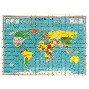Vintage world map 300 pcs jigsaw puzzle amazon computers vintage world map 300 pcs jigsaw puzzle gumiabroncs Images