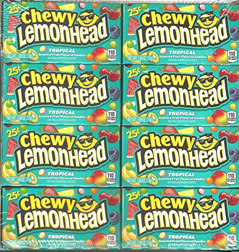 FERRARA PAN 25c LEMONHEAD TROPICAL CHEWY ( 24 in a Pack )