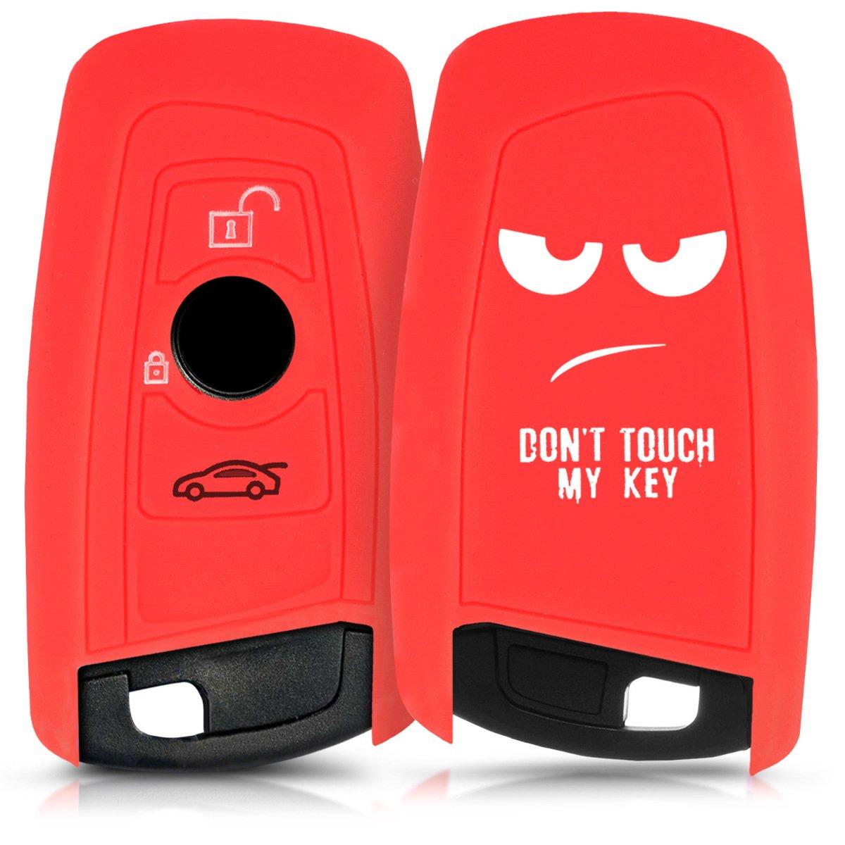- Carcasa Protectora Solamente Keyless Go - Case Mando de Auto Gris//Negro Silicona kwmobile Funda de Silicona para Llave con Control Remoto de 3 Botones para Coche BMW de Suave