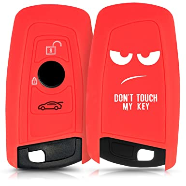 Soft TPU Silicone Protective Key Fob Cover for BMW 3 Button Remote Control Car Key only Keyless Go - Red High Gloss kwmobile Car Key Cover for BMW