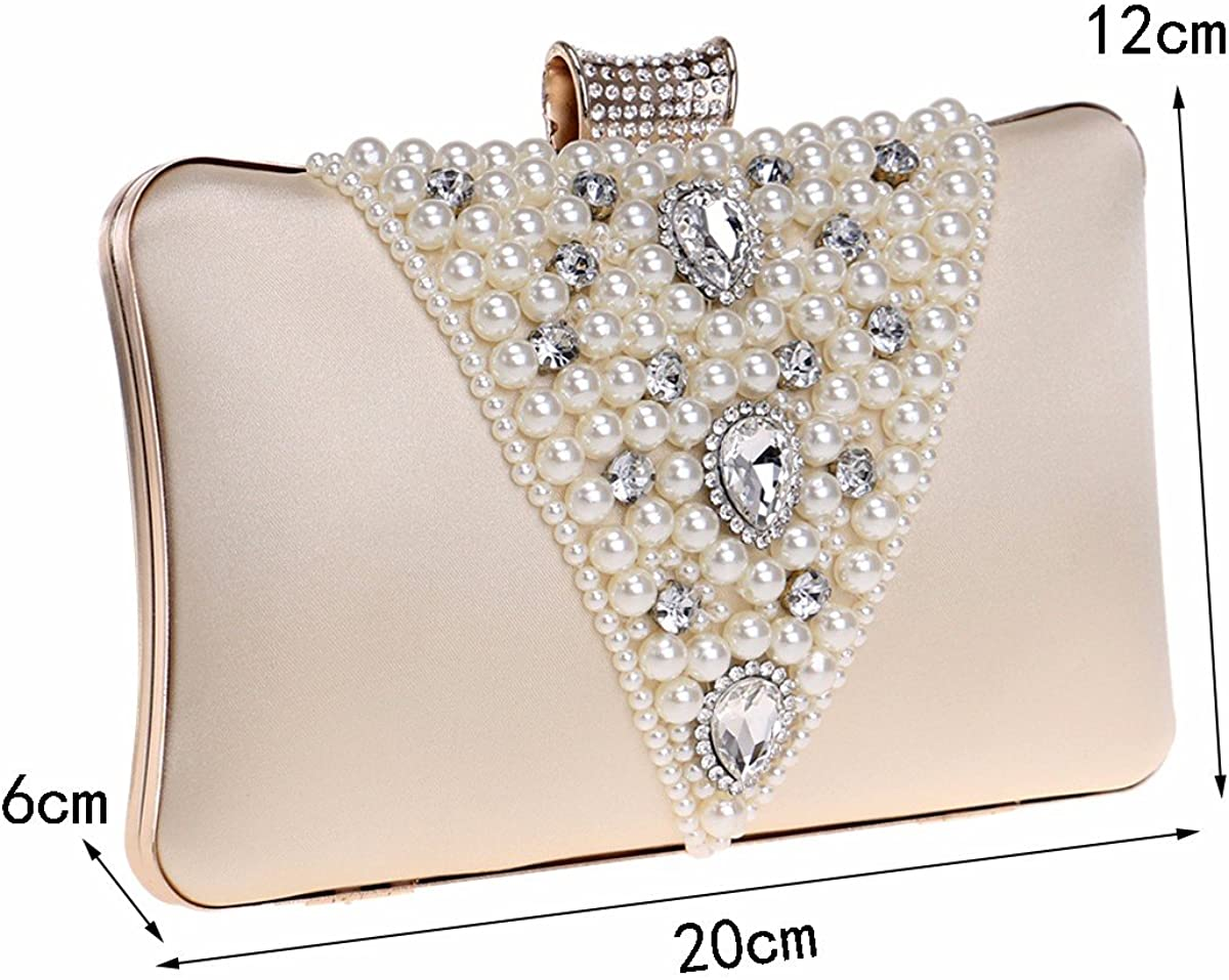 XJTNLB Europe and the United States banquet dress dinner bag lady pearl embroidery hand bag evening bag