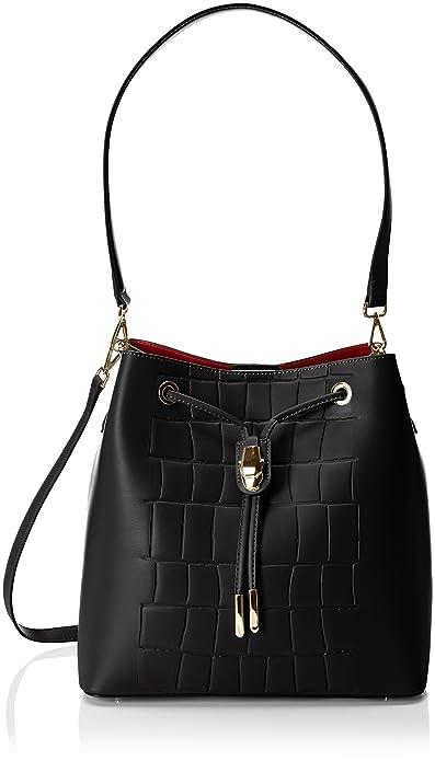 Cavalli C63PWCMC0092 - Bolso Mochila de Piel Mujer, Color Negro, Talla 28x28x18 cm (