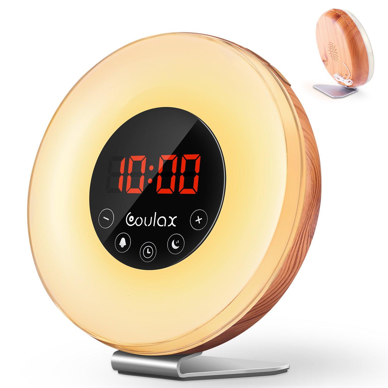Lichtwecker mit 6 natürlichen Sounds & FM Radio