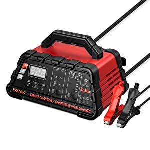 Potek 2/6/10 Amp Battery Charger and Maintainer