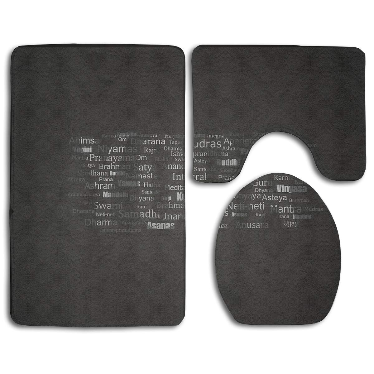 Amazon.com: Yoga Sign Bathroom Rug Sets 3 Piece Non-Slip ...