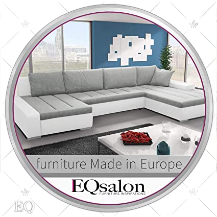 Amazon Com White And Grey Large U Shaped C Shaped Sectional Couch