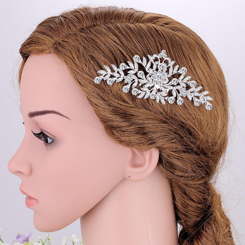 Amazon.com: Tree Short Bridal Handmade Hair Side Comb for Wedding or ...