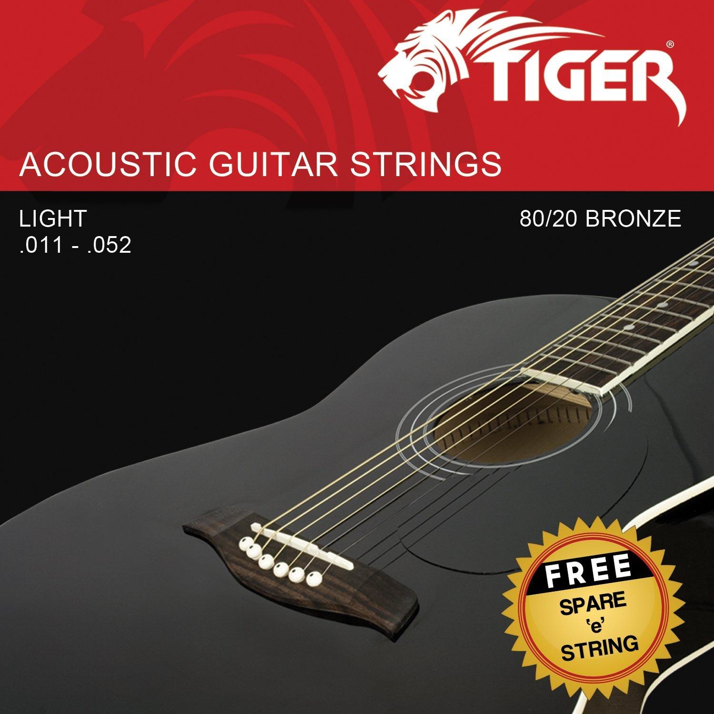 corde in acciaio per chitarra acustica Super Light Tiger chitarra acustica .011-.052