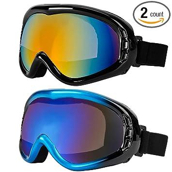 Amazon.com: LJDJ Gafas de esquí, pack de 2 – Gafas de sol ...