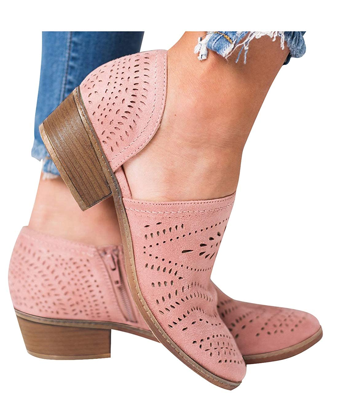 New-pink Blivener Men's Casual Handmade Driving shoes Slip on Loafer