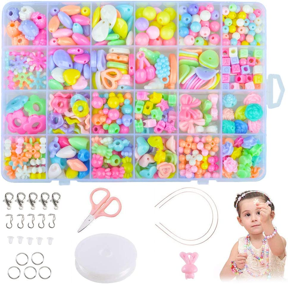 Best Birthday Gifts Sunnypig DIY Beads Jewellery Crafts Making Kits for Girls Kids