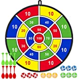 """29"""" Large Dart Board, Board Games for Kids with 12 Sticky Balls, 8 Safe Darts, Indoor/ Sport Outdoor Fun Party Play Game…"""