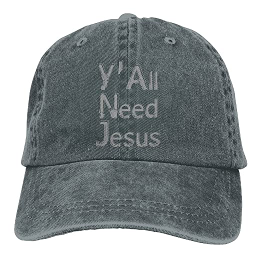 5fe3399a666d00 PYH0kox Y'all Need Jesus Hat Snap-Back Hip-Hop Cap Baseball Hat Head-Wear  Cotton Snapback Hats Asphalt at Amazon Men's Clothing store: