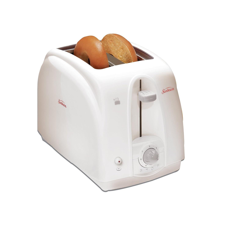Amazon.com: Sunbeam 3822100 2-Slice Wide Slot Toaster, White ...