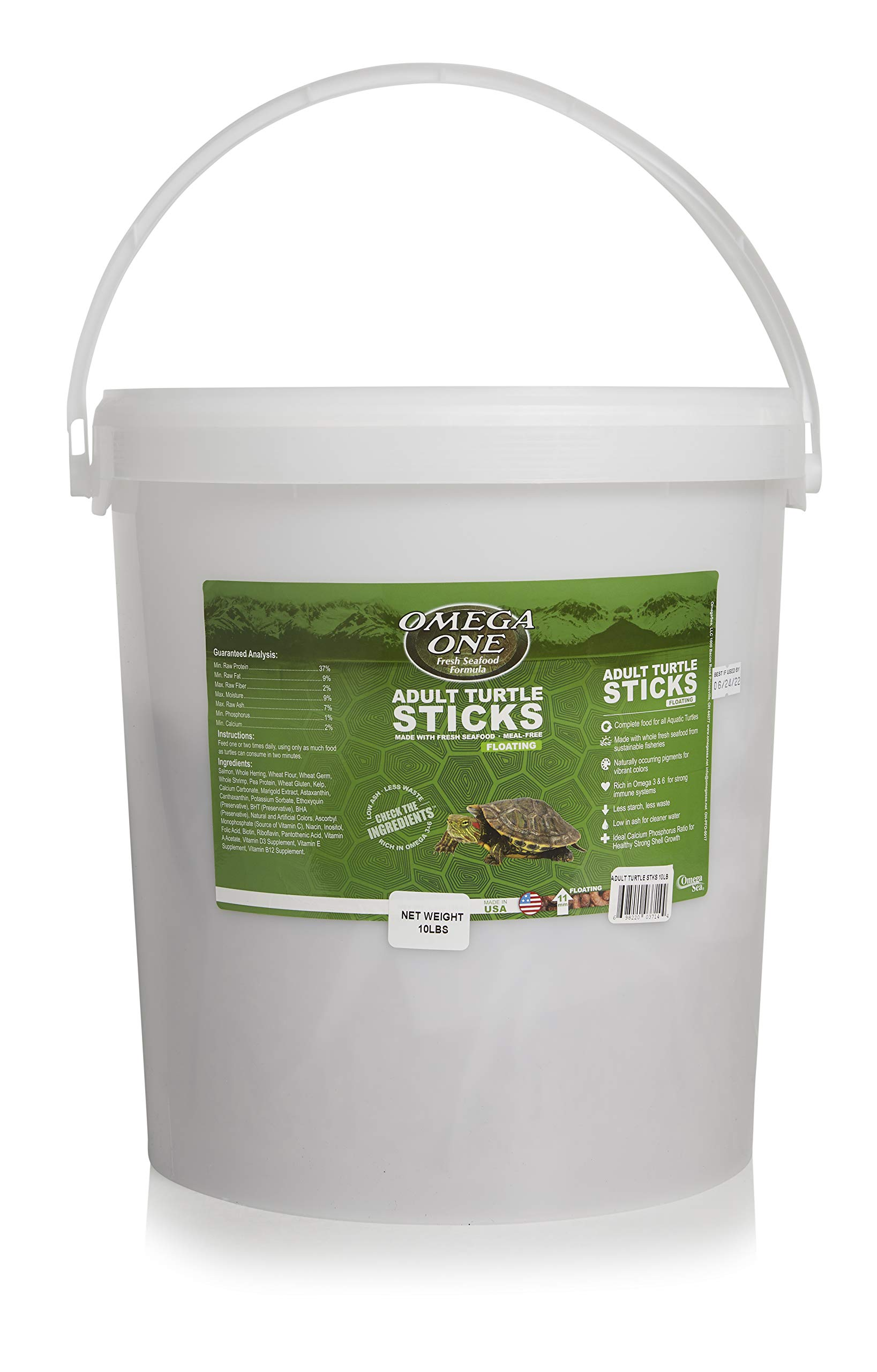 Omega One Adult Turtle Sticks, Floating, 10 lb Bucket by Omega One