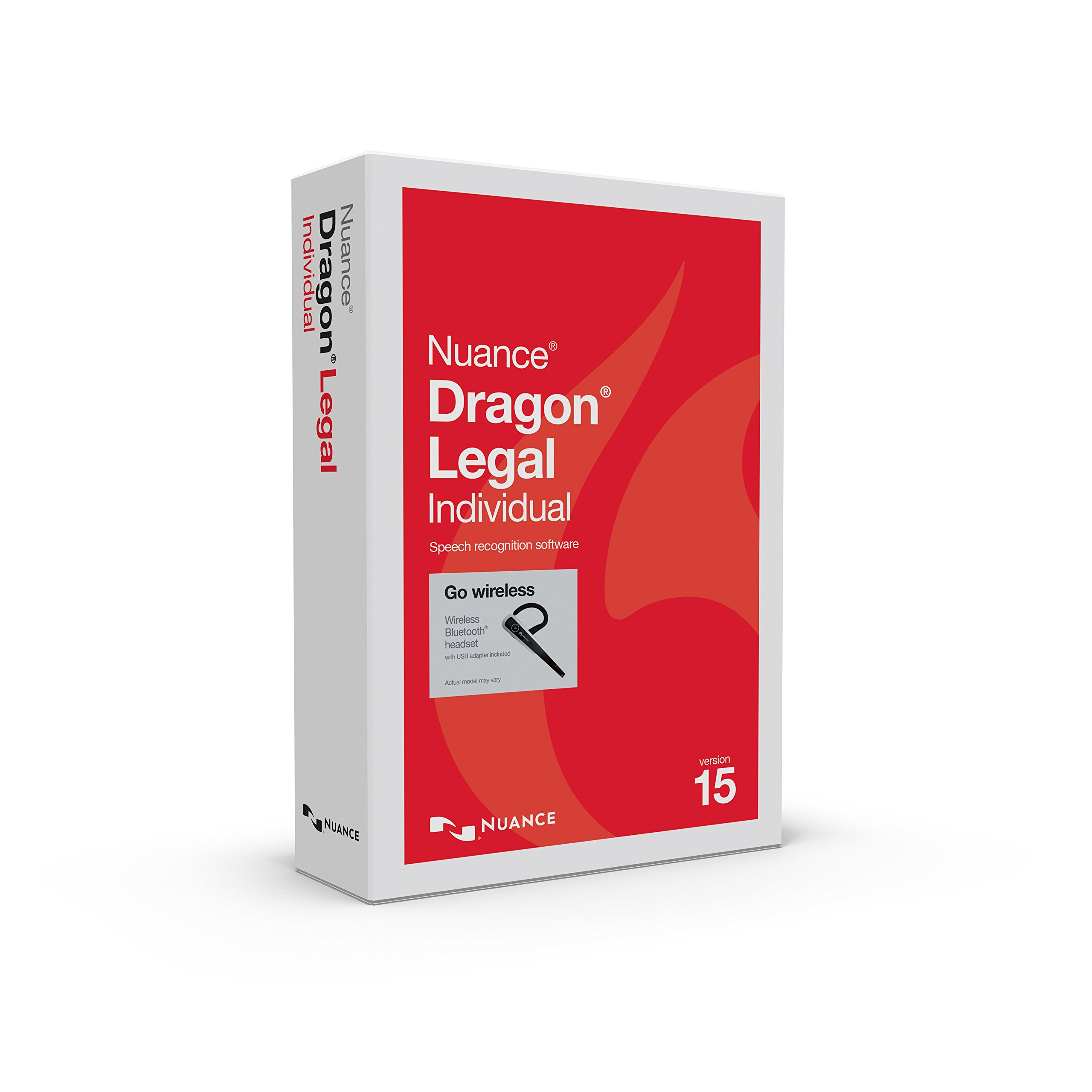 Dragon Legal Individual 15 with Bluetooth Headset by Nuance Dragon