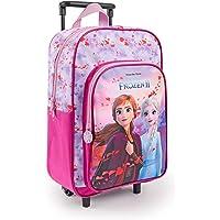 PERLETTI Mochila con Ruedas Disney Frozen 2 para Niña Rosa Lila - Bolsa Escolar Niñas Princesas Ana Elsa con Bolsillo…