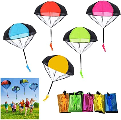 Throwing Soldier Parachute Funny Toy Kid Outdoor Game Play Fly Parachute Toys