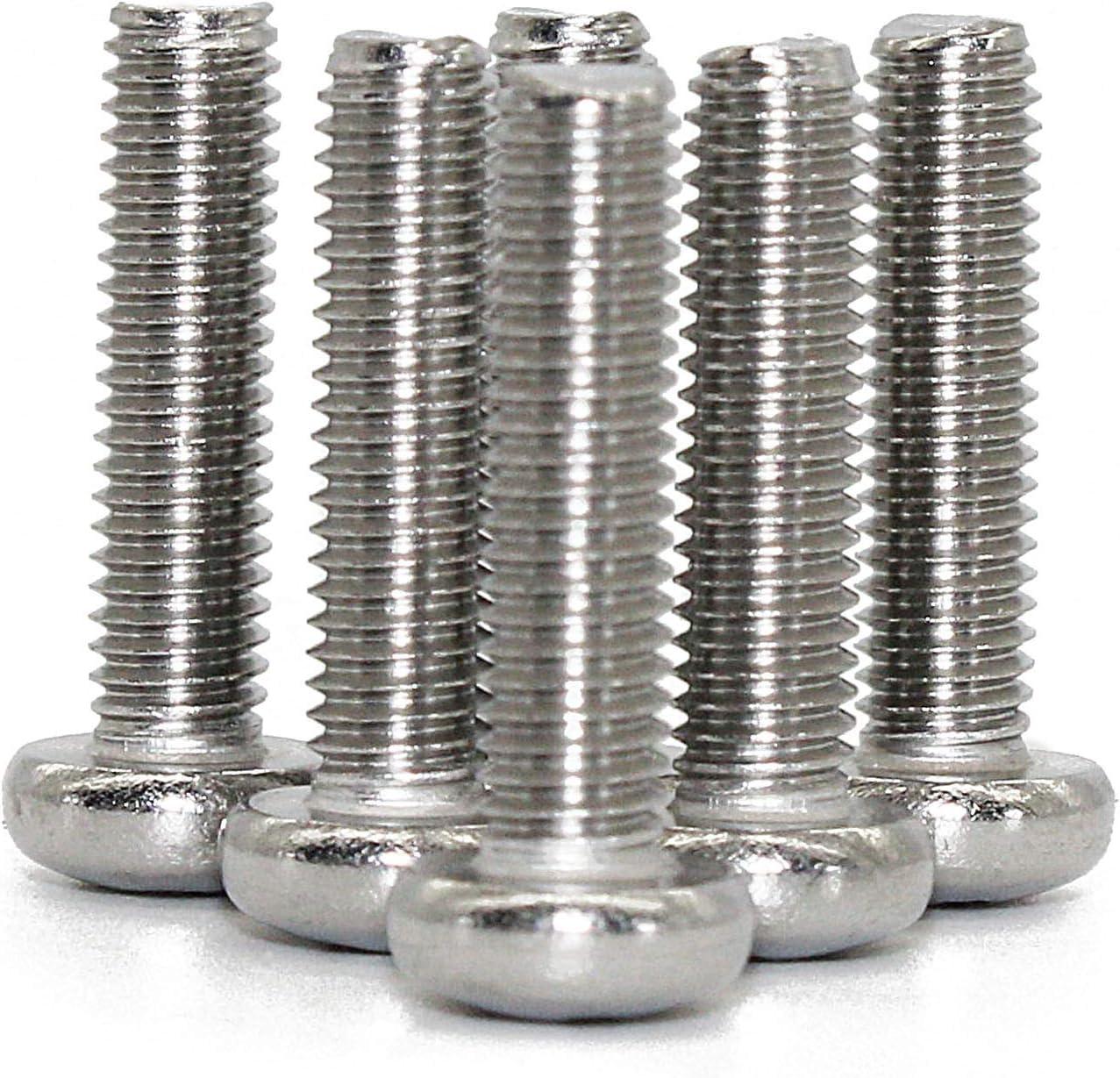 M3-0.5x30 mm Pan Head Phillips Machine Screws,18-8 Stainless Steel by Fullerkreg 100 pc